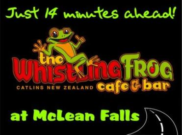 Catlins Whistling Frog Cafe NZ
